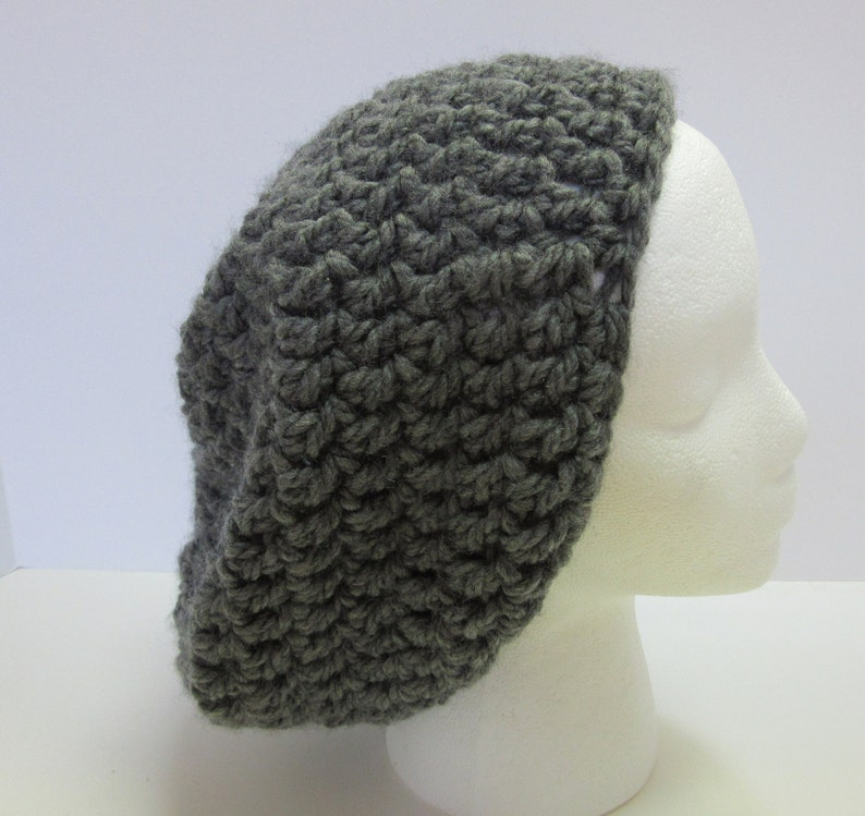 c948a75e6e2 Large Size Gray Slouchy Hat Oversize Mens Womens Big Head