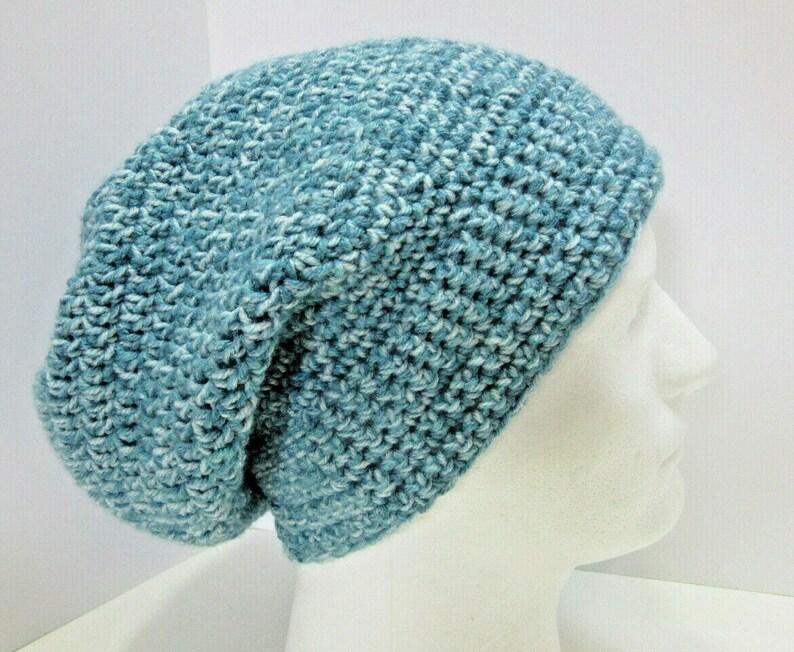 0a68612b57d Blue Slouchy Hat Oversize Cap Mens Womens Beanie Dreadlocks