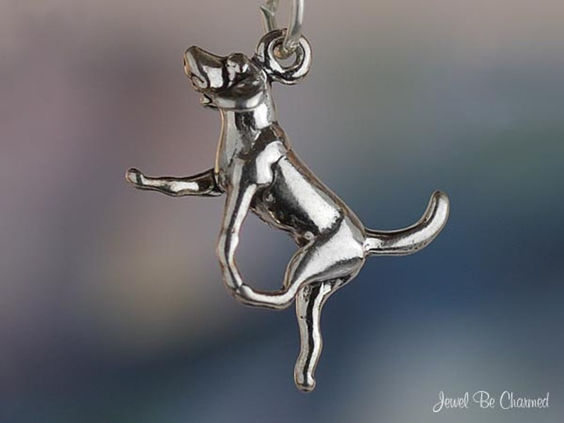 BEAGLE HOUND DOG 3D 925 CHARM STERLING SILVER