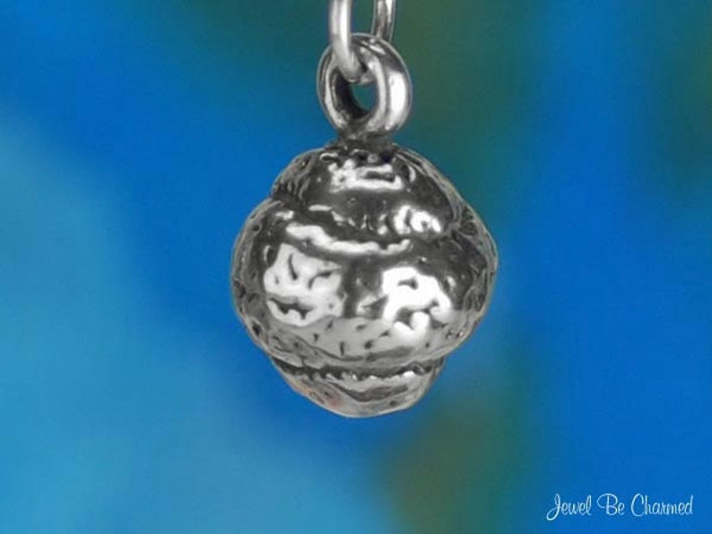 Sterling Silver Tennis Ball Charm Sports Player Equipment 3D Solid 925
