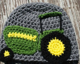 Crochet Pattern Only - T is for Tractor Applique