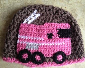 Crochet Pattern - Fire Truck Applique