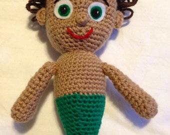 Mermaid Boy  - Crochet Pattern - Amigurumi PDF