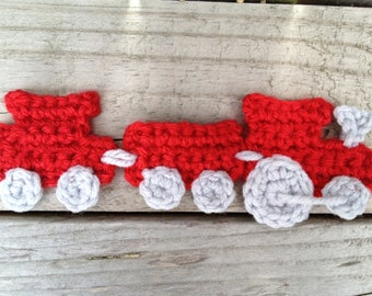 Crochet Pattern - Choo Choo Train Applique