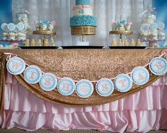 Cinderella Wish Upon A Star Rosette Banner by Loralee Lewis
