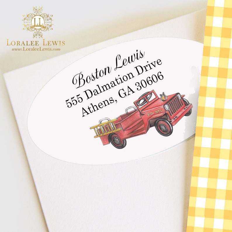 Fireman Collection by Loralee Lewis Address Labels