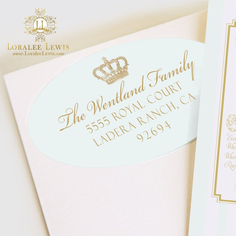 Address Labels Crown Prince Collection by Loralee Lewis