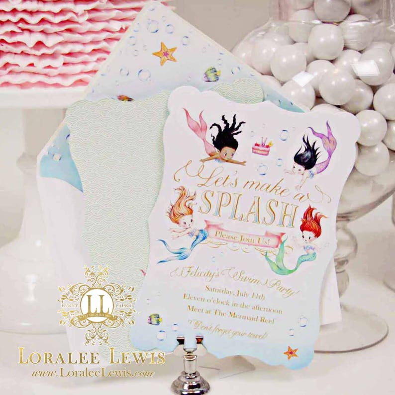 Mermaid Collection by Loralee Lewis Address Labels Asian