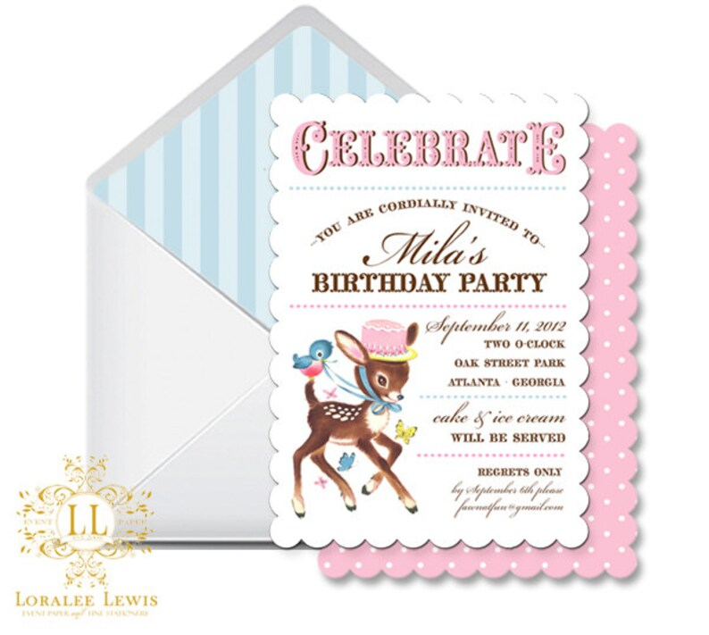 Address Labels Little Deer Collection by Loralee Lewis