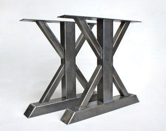 Steel Table Legs Metal Table Legs Trestle Table Legs Trestle Diy Table Table Legs Trestle Table