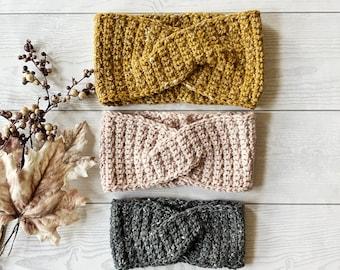 CROCHET PATTERN, The Tatum Twisted Headband Pattern, Crochet Headband, Crochet Headband Pattern, Crochet, Craft Supply, Crochet Earwarmer