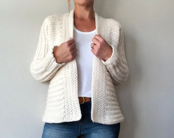 CROCHET PATTERN, The Kaleigh Cardigan, Sweater Pattern, Crochet Sweater Pattern, Crochet Cardigan Pattern, Crochet, Pattern, Sweater