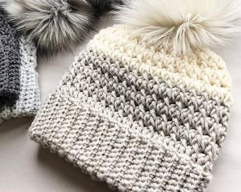 CROCHET PATTERN, The Dani Crochet Beanie Pattern, Double Brim Beanie, Crochet Hat Pattern, Crochet, Craft Supply, Crochet Pattern, Hat