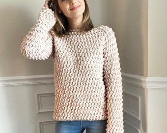 CROCHET PATTERN, The Layna Square Neck Pullover, Sweater Pattern, Crochet Sweater Pattern, Crochet Pattern, Crochet, Pattern, Sweater