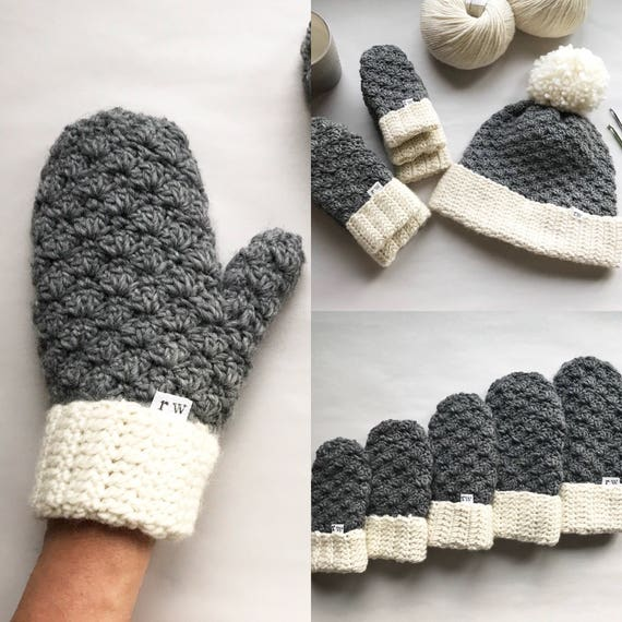 CROCHET PATTERN The Jesse Mittens Crochet Mittens Easy | Etsy