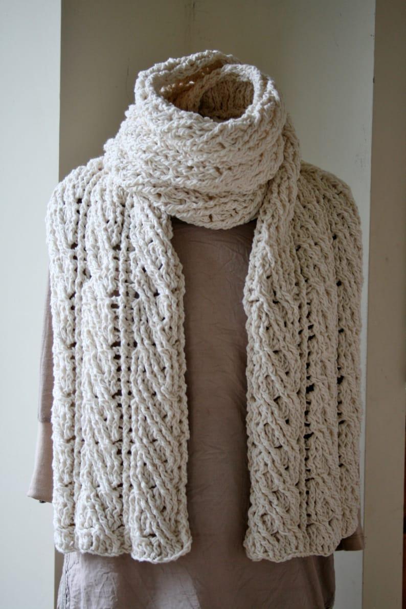 Uncinetto Sciarpa Del Modello Il Modello Di Sciarpa Crochet Etsy