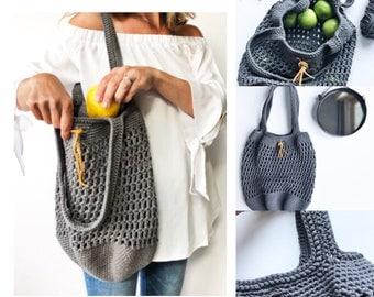 Crochet Pattern, The Edgewater Market Tote, Crochet Bag Pattern, Summer Bag Pattern, Market Bag Pattern, Pattern, Crochet