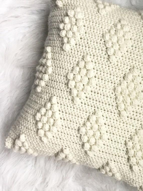 PATRÓN de ganchillo diamantes en el patrón de la almohada de | Etsy