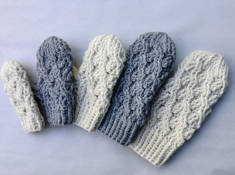 Crochet Pattern Crochet Mitten Pattern The Cadence Mittens Etsy
