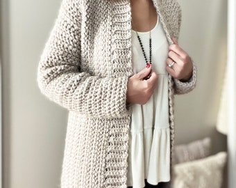 CROCHET PATTERN, The Chrislyn Cardigan, Sweater Pattern, Crochet Sweater Pattern, Crochet Cardigan Pattern, Crochet, Pattern, Sweater