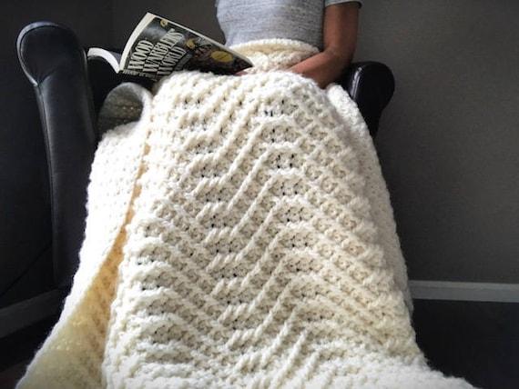 Crochet Blanket Pattern The Sweet Slumbers Crochet Blanket Etsy