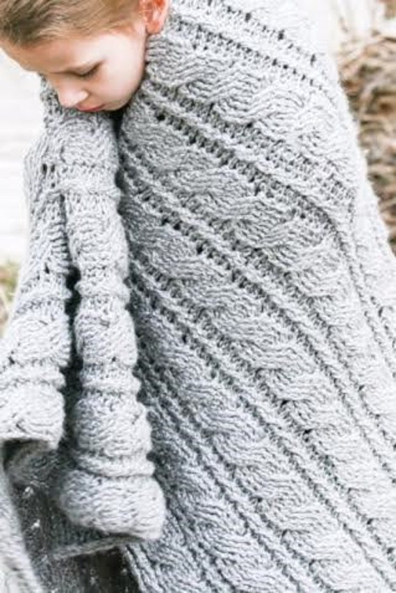 Häkeln Sie afghanische Muster grauen Himmel Afghan Decke