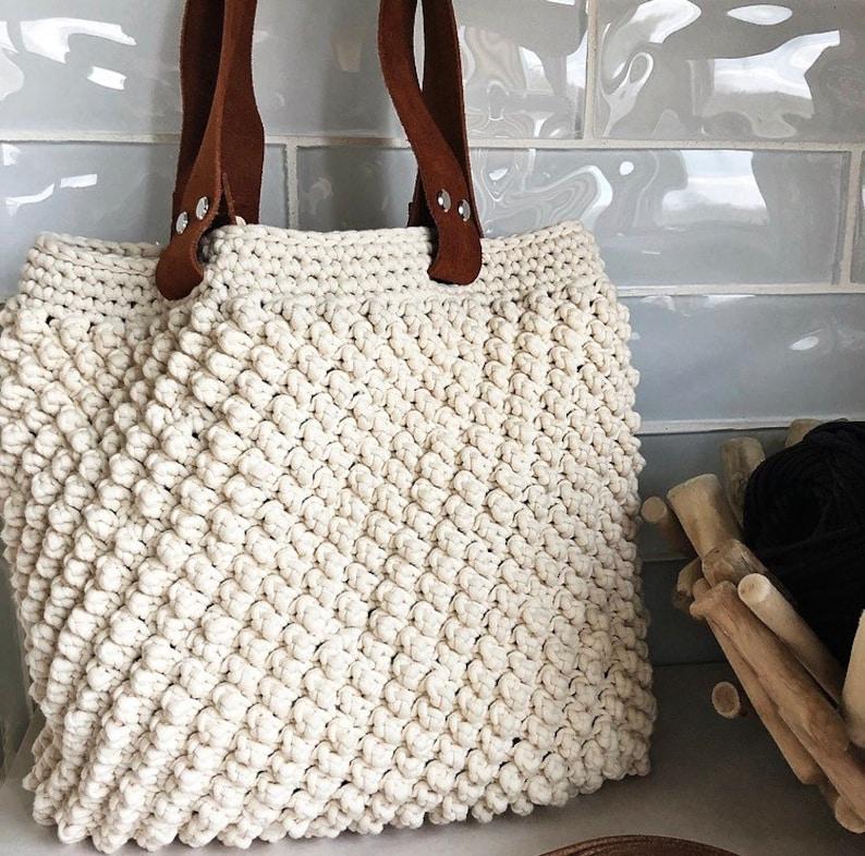 Crochet Bag Pattern The Savannah Summer Tote In 2 Sizes Etsy