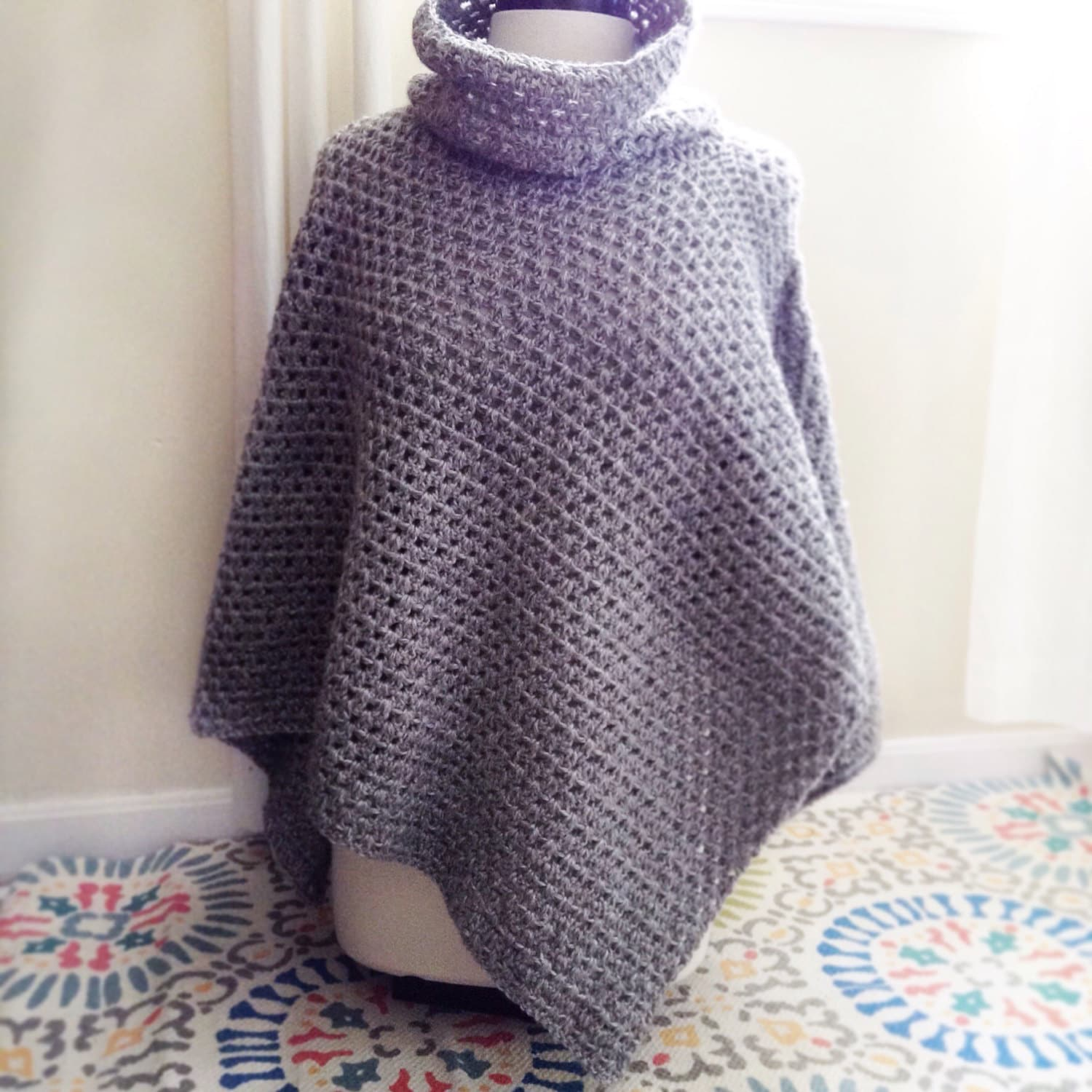 Old Fashioned Häkeln Poncho Muster Uk Ornament - Decke Stricken ...