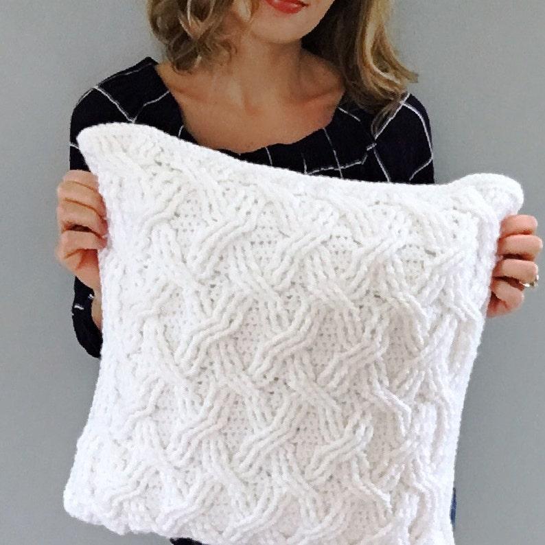 CROCHET PATTERN The Hudson Pillow Pattern Crochet Pillow image 0