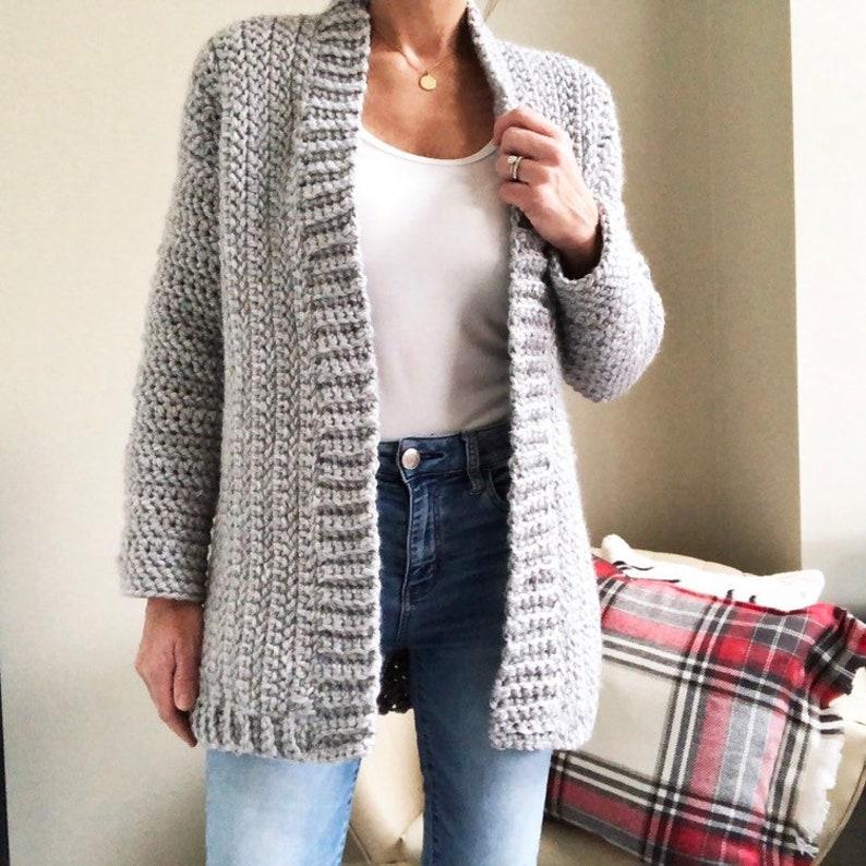 Crochet Pattern The Chrislyn Cardigan Sweater Pattern Etsy