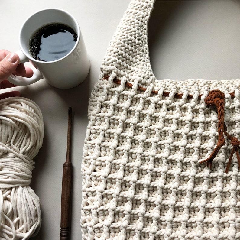 Crochet Bag Pattern The Waffle Stitch Crochet Bag Pattern image 0