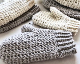 CROCHET PATTERN, The Remy Mittens, Crochet Mittens, Easy Pattern, Mitten Pattern, Crochet Mittens, Pattern, Crochet