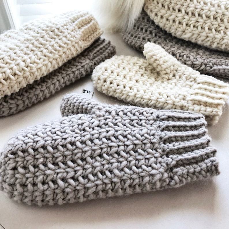 CROCHET PATTERN The Remy Mittens Crochet Mittens Easy image 0