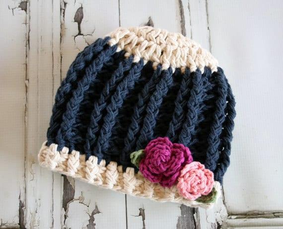 Crochet Hat Pattern The Ruby Rose Hat Girls Crochet Pattern  e18f6abe5d20
