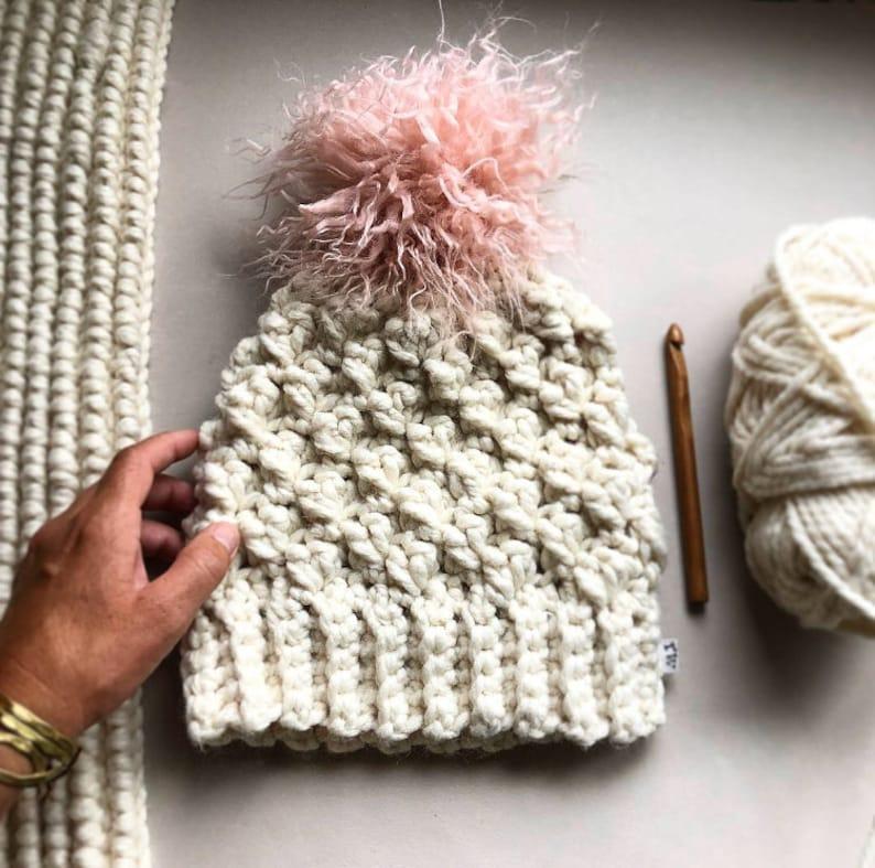 9aac036553d CROCHET PATTERN The Everest Crochet Beanie Pattern Crochet