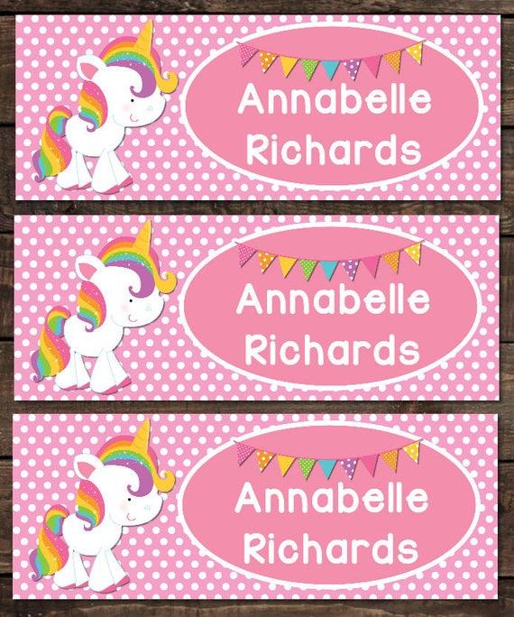 School Waterproof Labels Waterproof Stickers Name Label