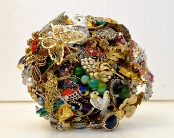 CUSTOM Wedding Vintage Family Heirloom Brooch Bouquet - you send me your collection and I will make you an amazing bouquet