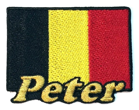 Flag of Belgium Custom Iron-on Patch With Name Personalized Free