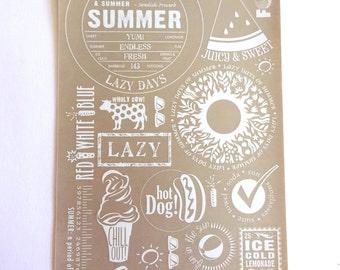 Rub On 47 White Summer