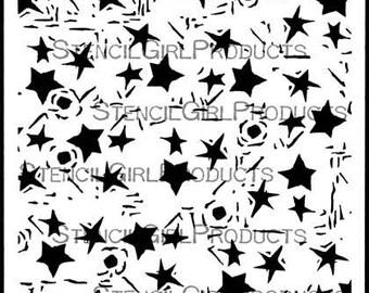 """Starlight Starbright 6"""" x 6"""" Stencil"""