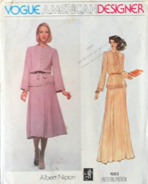 Vintage Vogue Patterns 40 Etsy Cool Vintage Vogue Patterns