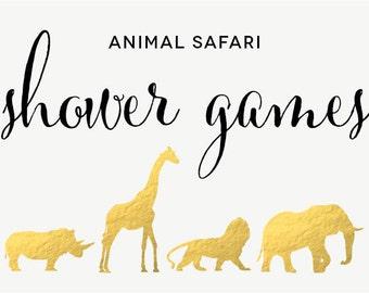Safari Animal Baby Shower or Birthday Invitation Printable ...