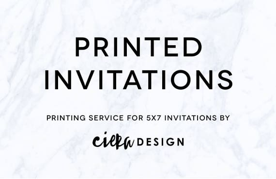 printed 5x7 invitations with gold foil etsy