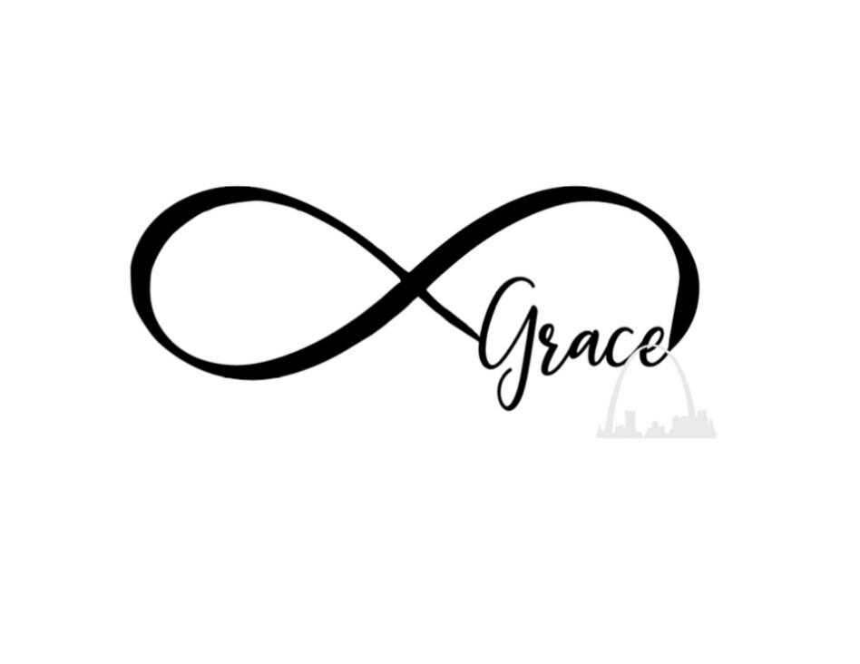 Grace Infinity Svg Cut File Grace Infinity Symbol Svg T Shirt Etsy