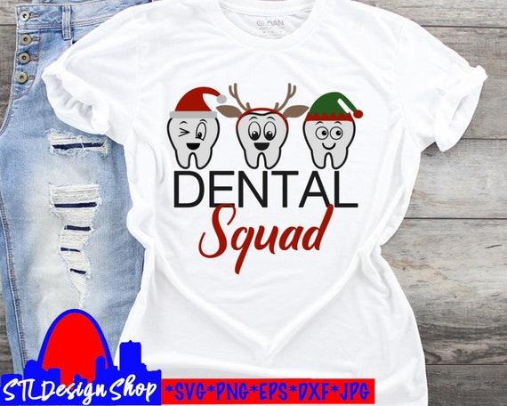 Christmas dental office smile elf t-shirts png svg cut file X-mas dentist dental hygienist X-mas decals gifts diy Silhouette Cricut craft