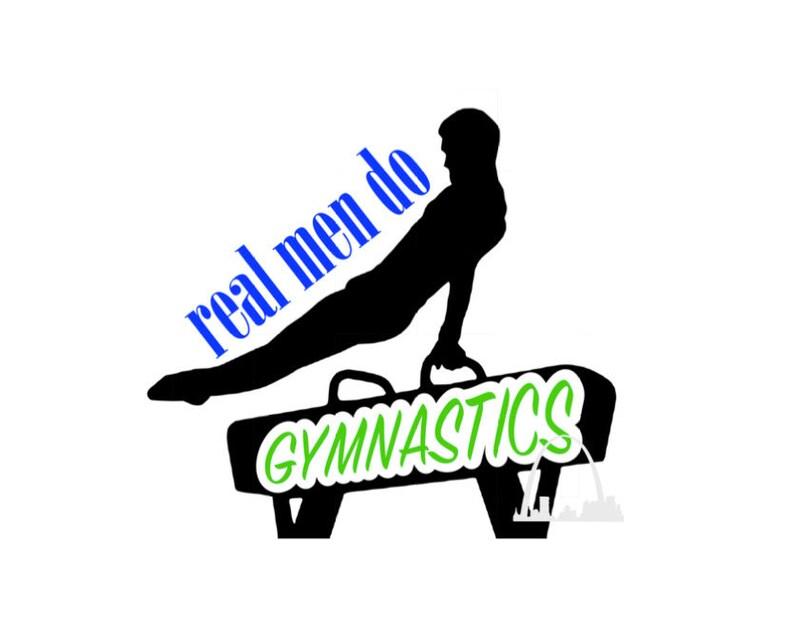 d9e535dd7 Real men do gymnastics svg cut file men's male gymnast | Etsy