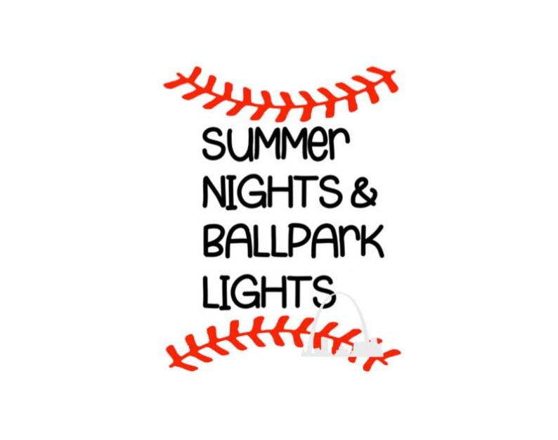 2d2c3d8e1940 Summer Nights and Ballpark lights svg cut file Baseball