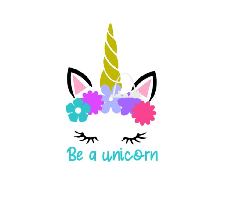 Be A Unicorn Svg Cut File Clip Art Silhouette Or