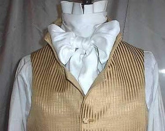 Mans  English Regency Waistcoat Wedding Groom Vest Steampunk Victorian Edwardian Vest