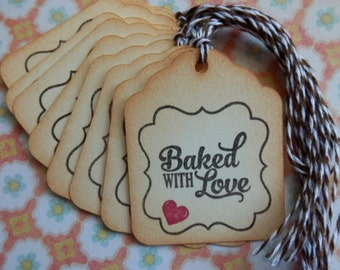 Baking Tags- Food Tags - Baked with Love - From the Kitchen of - Gift/Hang Tags (10)